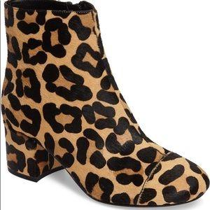 Halogen Leopard Calf Hair Boots booties women's 9